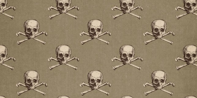 Free download ~ commercial use jpg skull and crossbones background ~ courtesy of www.hgdesigns.co