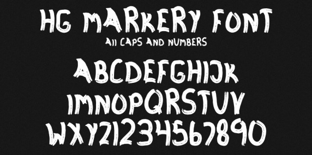 Free download ~ Markery .otf font ~ courtesy of hgdesigns.co