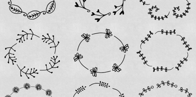 Free download ~ oval frame plant photoshop brushes ~ courtesy of hgdesigns.co