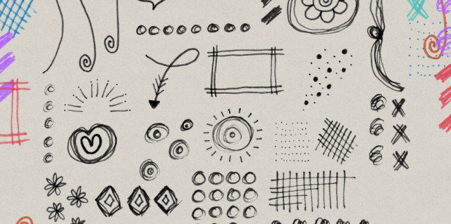 Free download ~ sketchy doodle photoshop brushes ~ courtesy of hgdesigns.co