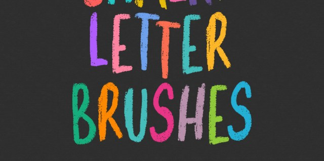 Free download ~ chalky letter photoshop brush set ~ courtesy of www.hgdesigns.co