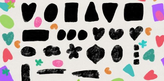 Free download ~ grunge shapes photoshop brushes ~ courtesy of hgdesigns.co