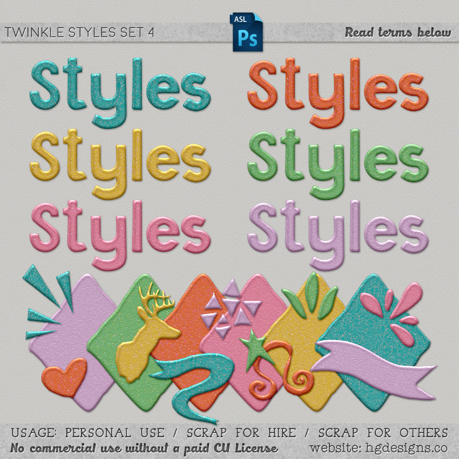 Free download ~ Twinkle Photoshop layer styles ~ courtesy of www.hgdesigns.co