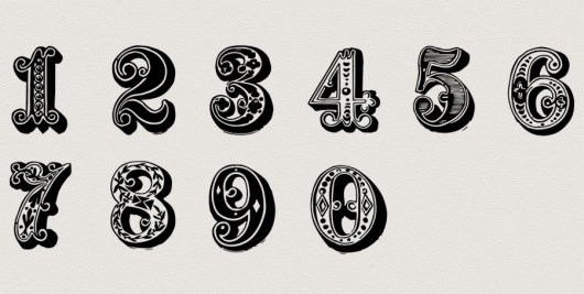 Free download ~ commercial use vintage numbers in png format ~ courtesy of hgdesigns.co