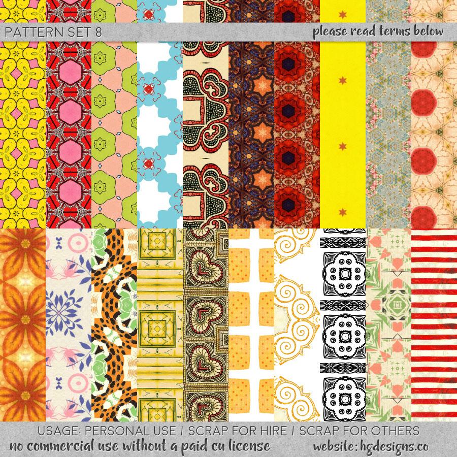 Free download: seamless tiling jpg and .pat file patterns