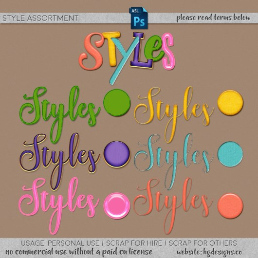 Free download ~ assorted photoshop layer styles