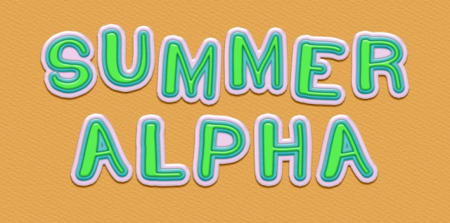Free download ~ commercial use summer style alpha set in png format