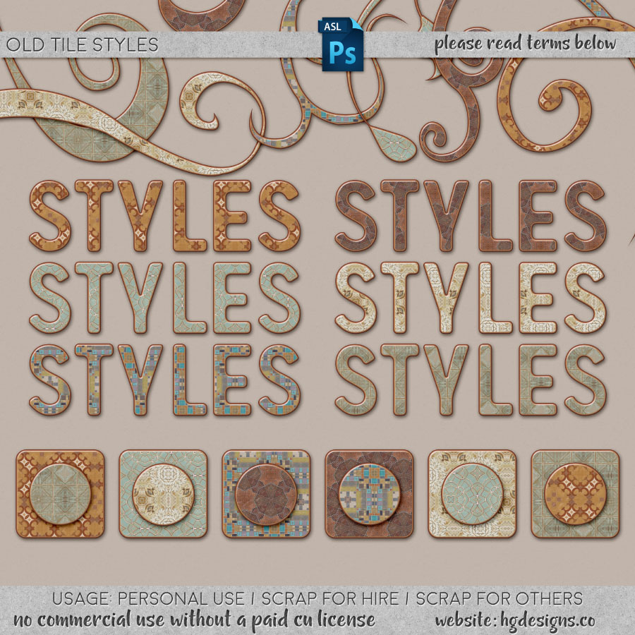 Free download ~ layer styles for use in photoshop