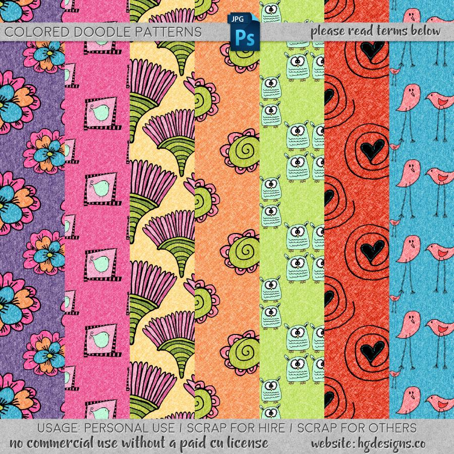 freebie: doodle patterns