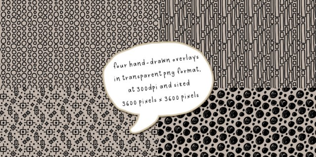 """Free download ~ handmade transparent png doodle overlays sized 12""""x12"""""""