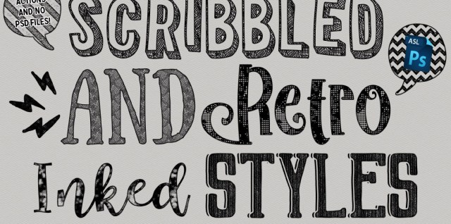 https://creativemarket.com/heathergreen/1797019-Scribbled-And-Retro-Inked-Styles
