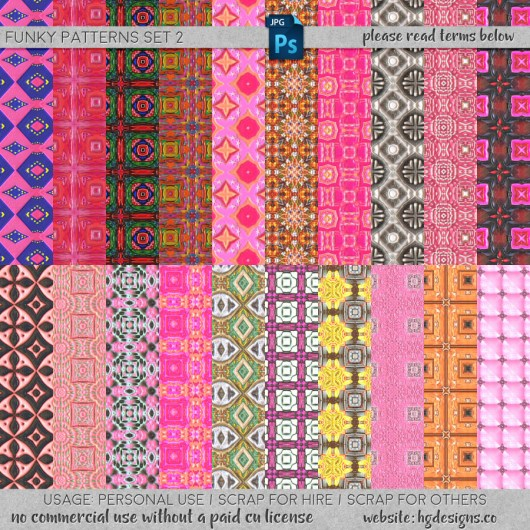 Free download ~ seamless tiling jpg patterns and photoshop .pat file