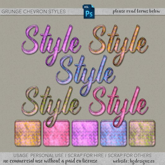 free download ~ grunge chevron photoshop layer styles