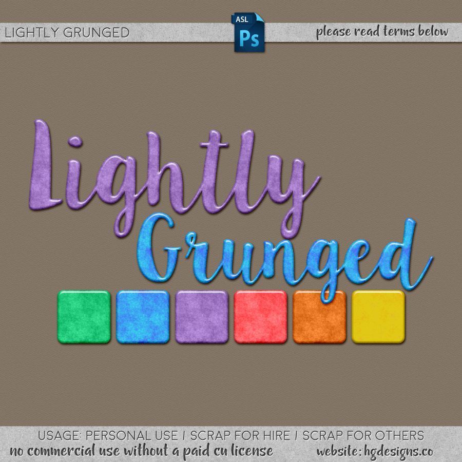 freebie: lightly grunged photoshop layer styles