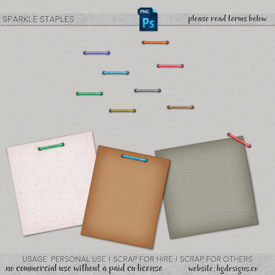 freebie: sparkle staples