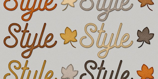 Free download ~ Fall Sparkle Photoshop Layer Styles