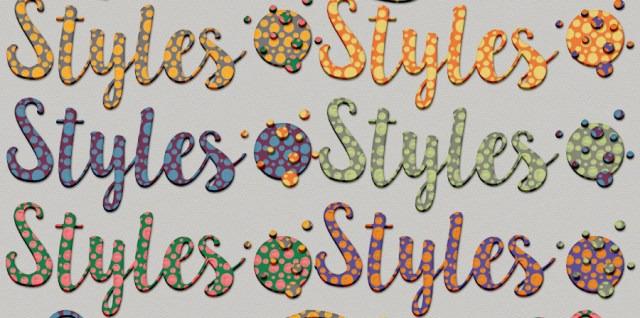 Free download ~ painted dots photoshop layer styles