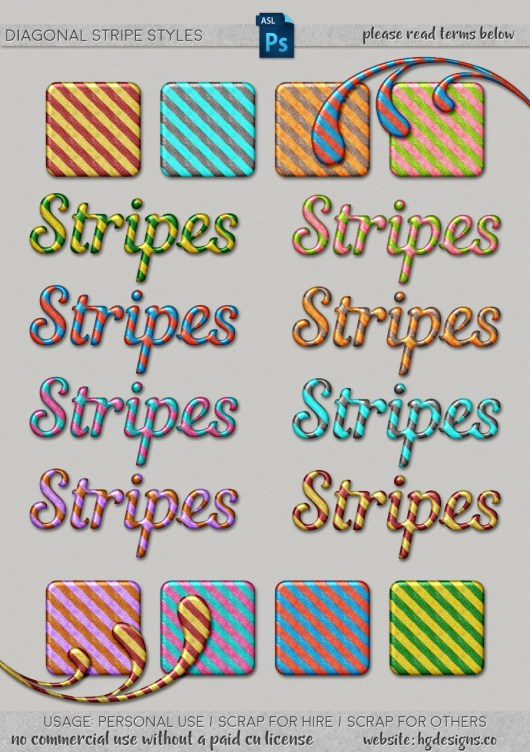 Free download ~ diagonal striped Photoshop layer styles