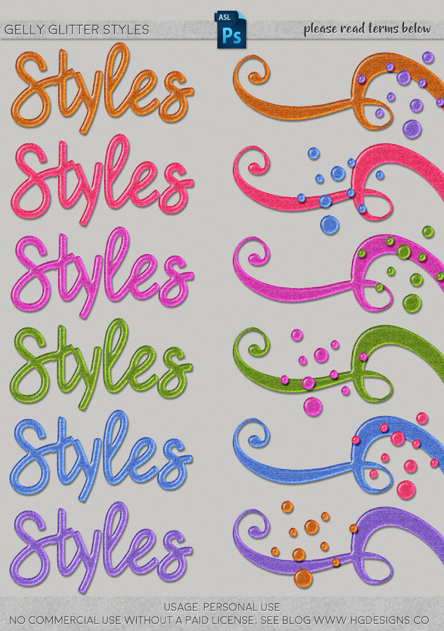 freebie: gelly glitter Photoshop layer styles