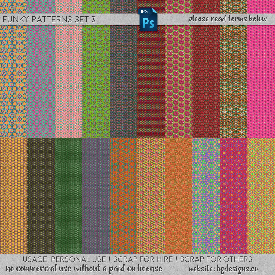 freebie: seamless tiling patterns set