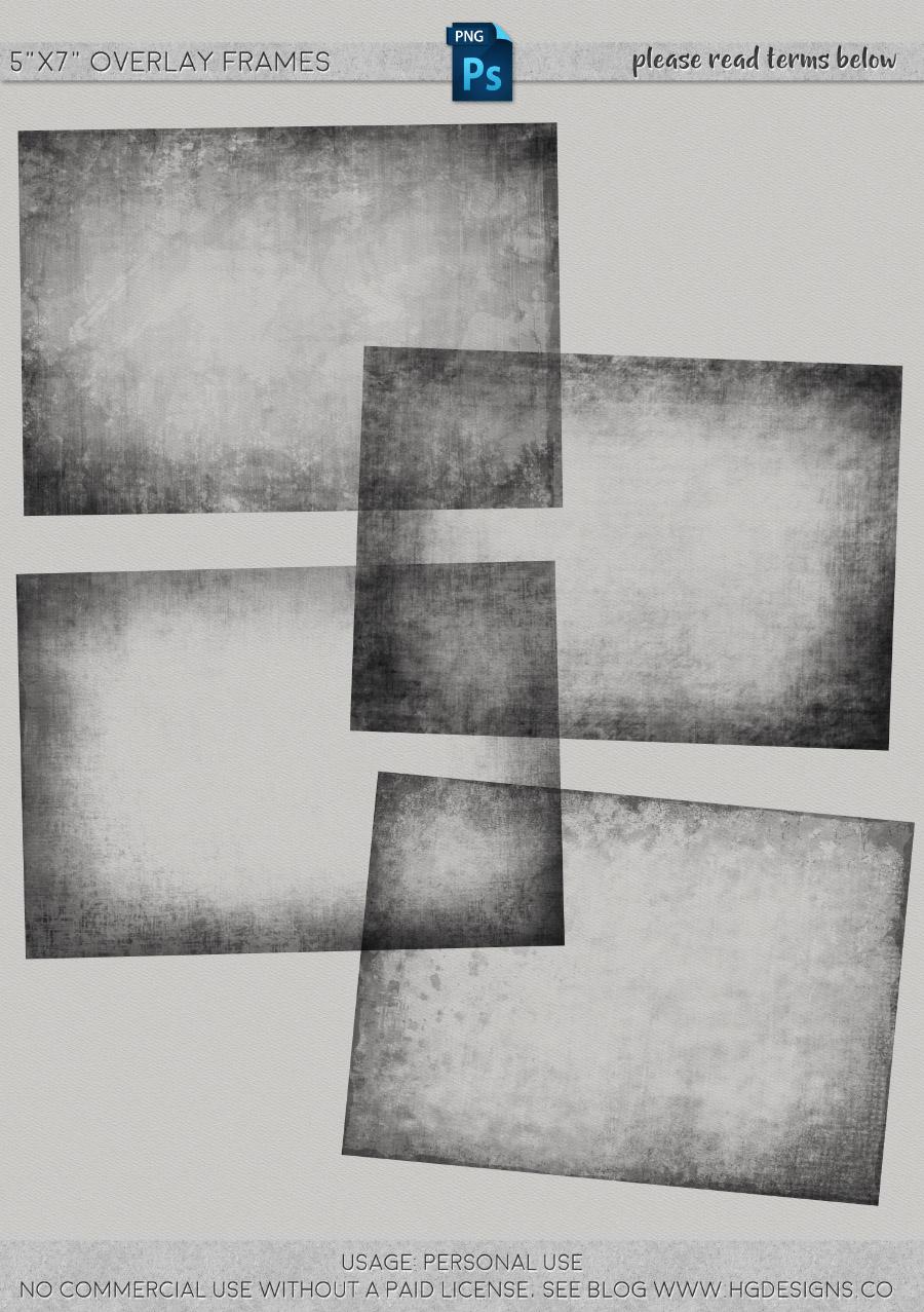 freebie: 5″x7″ overlay frames
