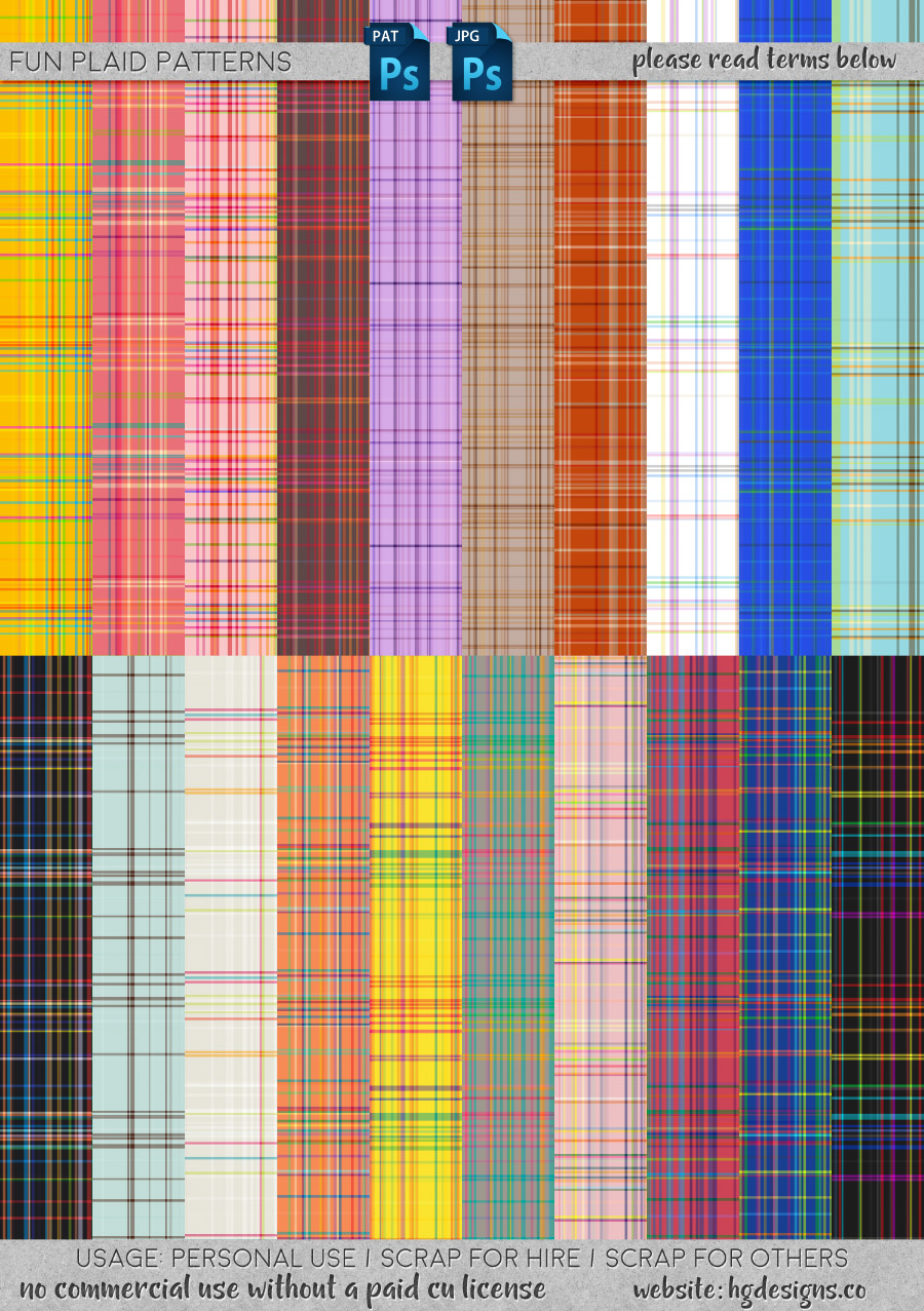 freebie: seamless tiling plaid patterns