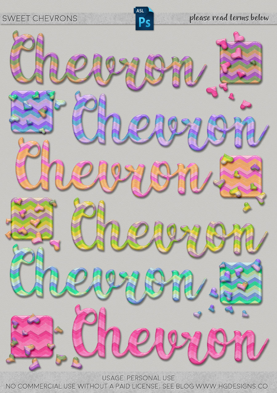 freebie: chevron photoshop layer styles