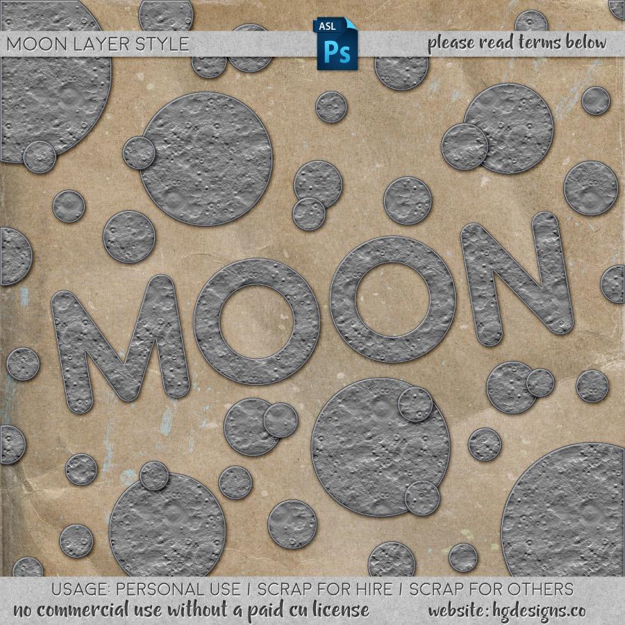 freebie: moon photoshop layer style