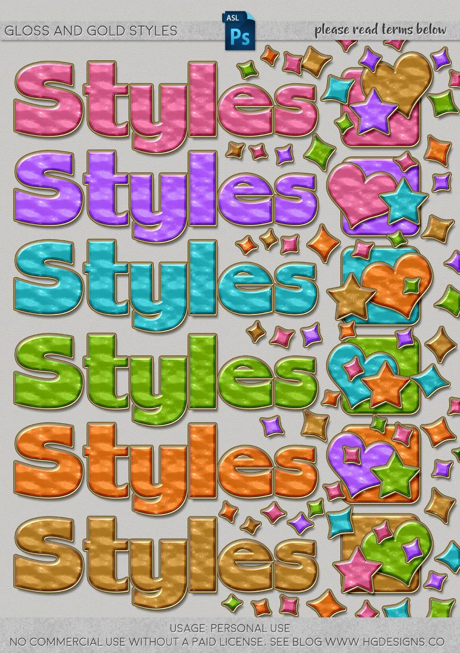 freebie: photoshop layer styles