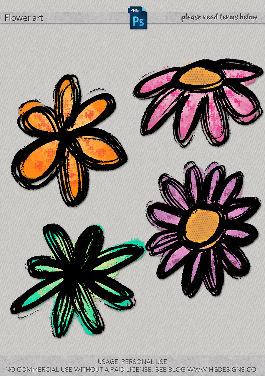freebie: flower art graphics
