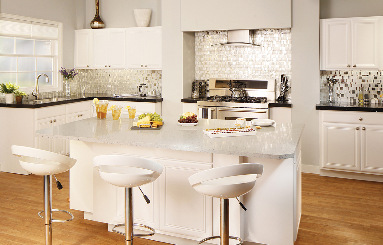 types of kitchen countertops materials countertops kitchen VIEW IN GALLERY white granite kitchen countertops for kitchen remodel inspiration