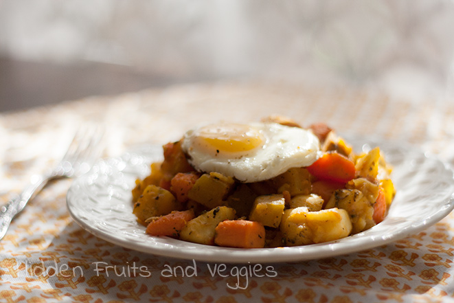 Sweet Potato and Golden Beet Hash