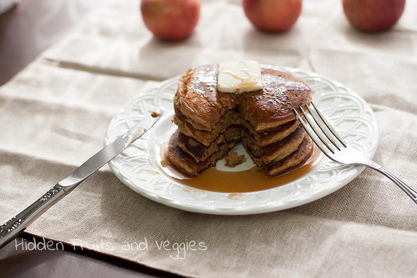 Apple Butter Pancakes from @Hiddenfruitnveg