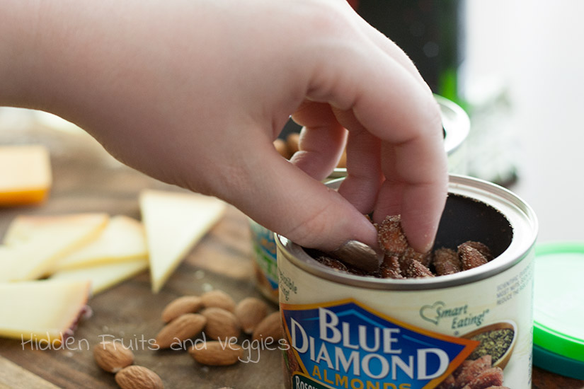 Wine and Cheese Paired Blue Diamond Almonds