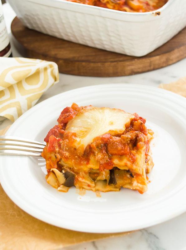 vegetarian lasagna with eggplant ragu2 | flavorthemoments.com