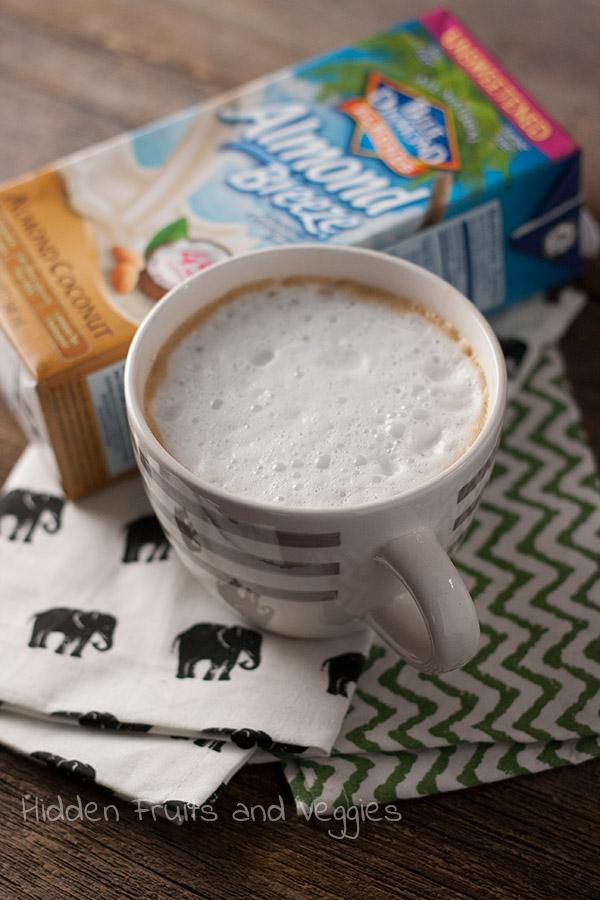 Cinnamon Latte with Almond Coconut Milk @hiddenfruitnveg