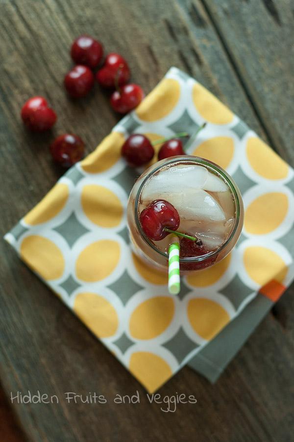 Cherry Watermelon Beer Cocktail @hiddenfruitnveg