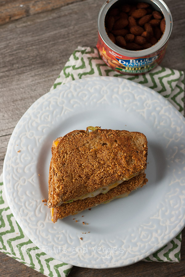 Sriracha Almond Crusted Grilled Cheese with Avocado @hiddenfruitnveg