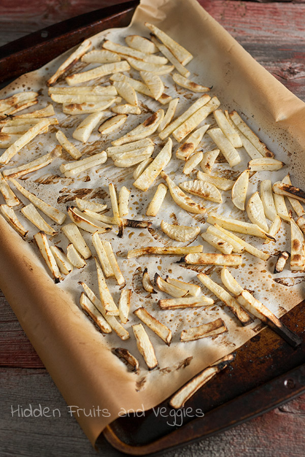Oven Roasted Turnip Fries @hiddenfruitnveg
