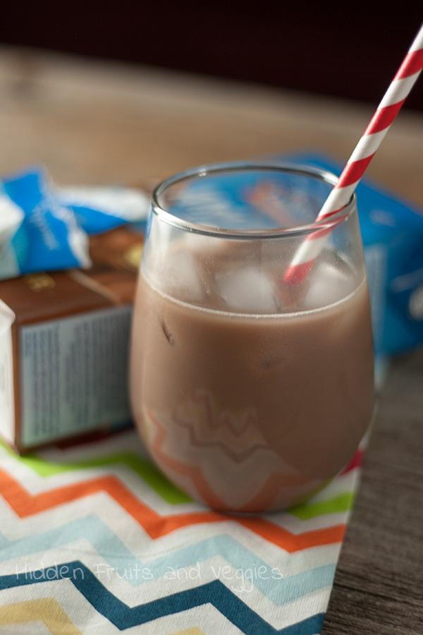 Chocolate mint iced tea @hiddenfruitnveg