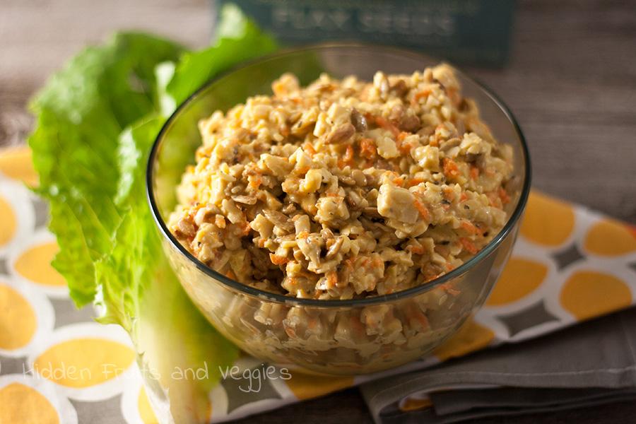 Apple Cider Vinegar Tempeh Salad @hiddenfruitnveg