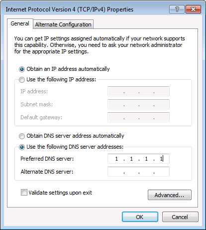Enter DNS Proxy IP address and click on the OK button.