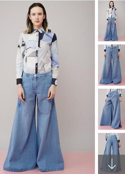 Kenzo Wide Leg Jeans 745