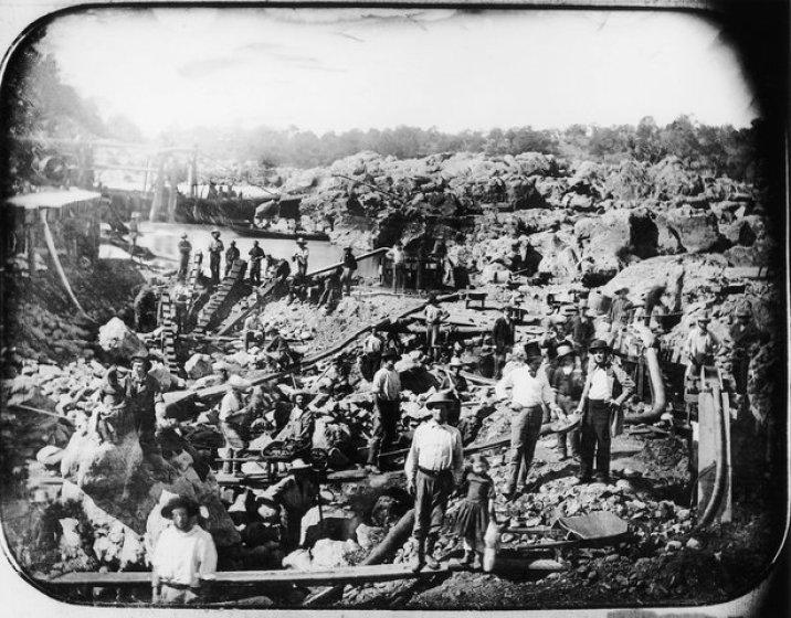 Gold Rush Mining Scene
