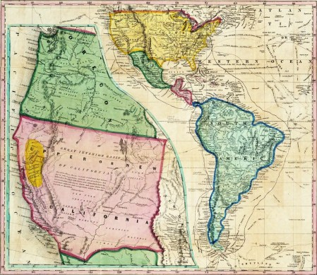 California Gold Rush Highlighted Area in yellow