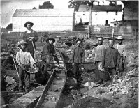 California Gold Rush at Auburn Ravine in 1852.