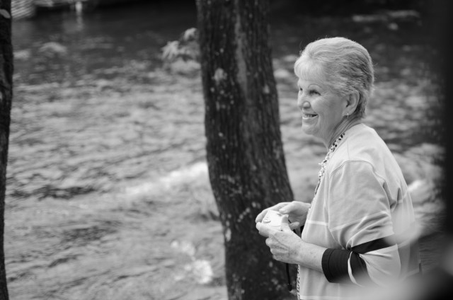 Old Woman by the River @ Helen, Georgia (US)