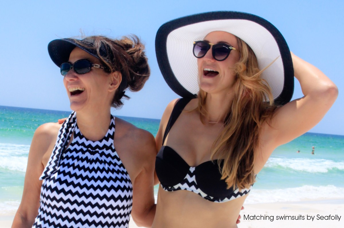 Matching swimsuits by Seafolly