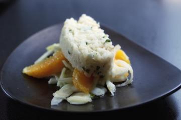 Zanderröllchen auf Orangen-Fenchel-Salat
