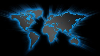 Blue Effect World Map - HD Wallpapers